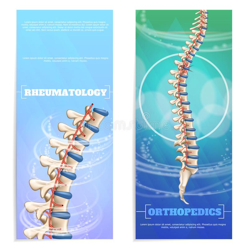 Bandeira do grupo da reumatologia e da ortopedia da clínica ilustração do vetor