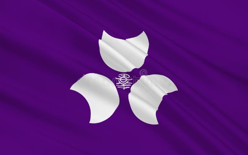 Bandeira do Gunma, Japão ilustração do vetor