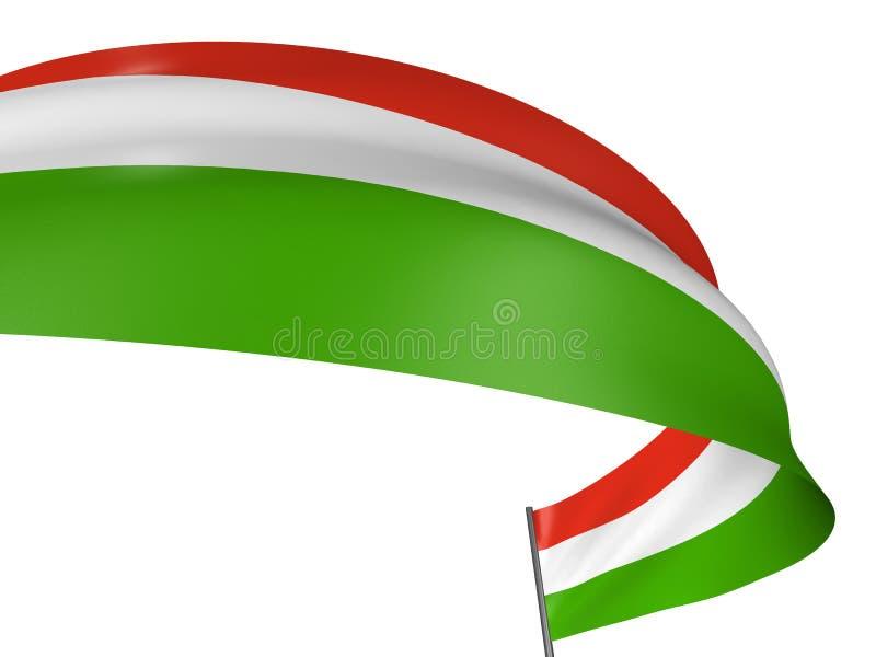 bandeira do Hungarian 3D ilustração do vetor