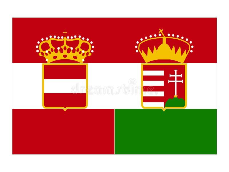 Bandeira do império de Austro-húngaro ilustração do vetor
