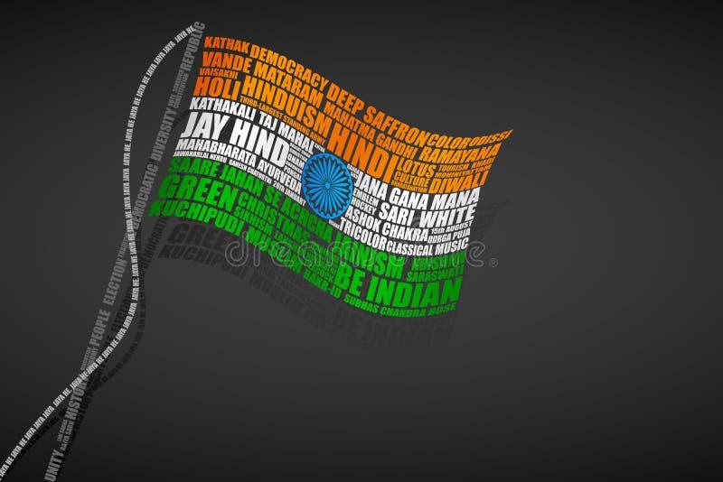Bandeira do Indian do Typography ilustração stock