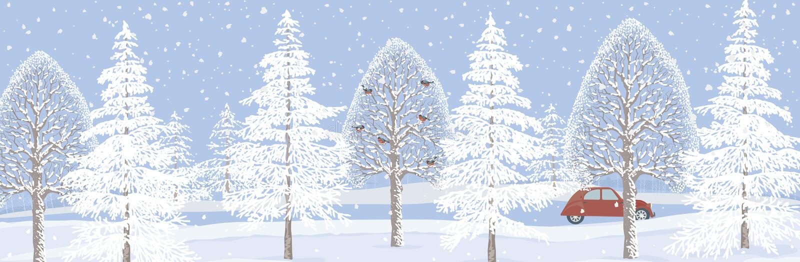 Bandeira do inverno ilustração royalty free