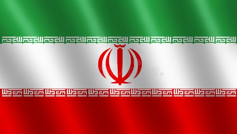 Bandeira do iraniano ilustração royalty free