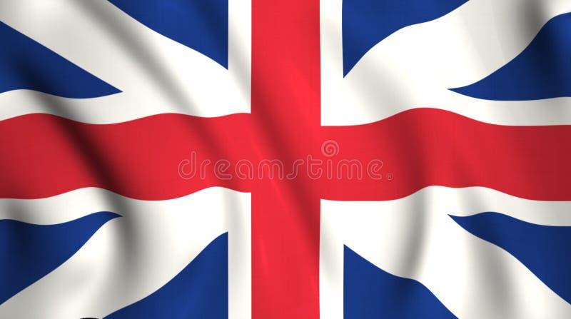 Bandeira do jaque de união que acena no vento ilustração do vetor