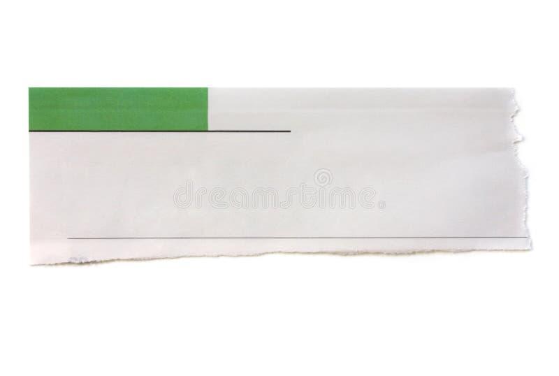 Bandeira do jornal fotografia de stock royalty free