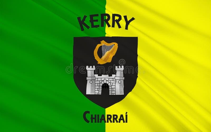 A bandeira do Kerry do condado é um condado na Irlanda ilustração do vetor