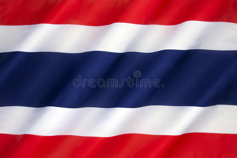 Bandeira do Kingdom of Thailand fotografia de stock royalty free