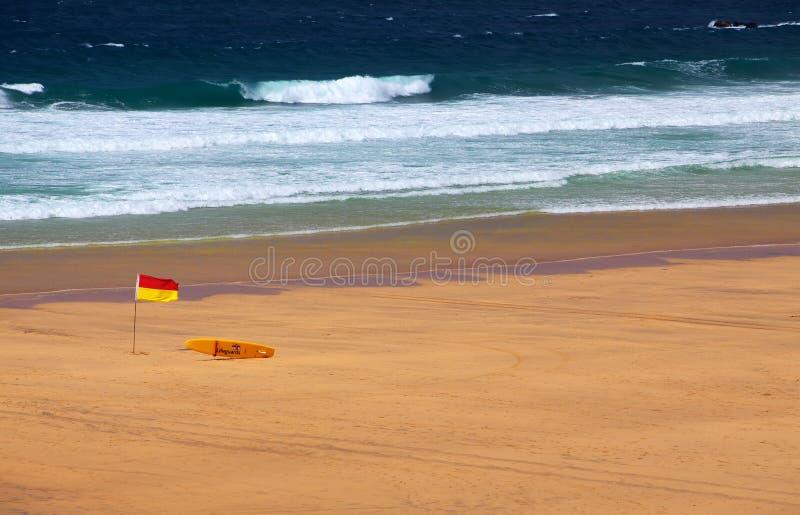 Bandeira do Lifeguard da praia fotos de stock