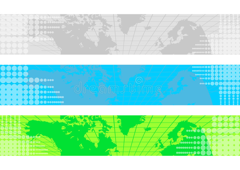 Bandeira do mapa de mundo ilustração royalty free