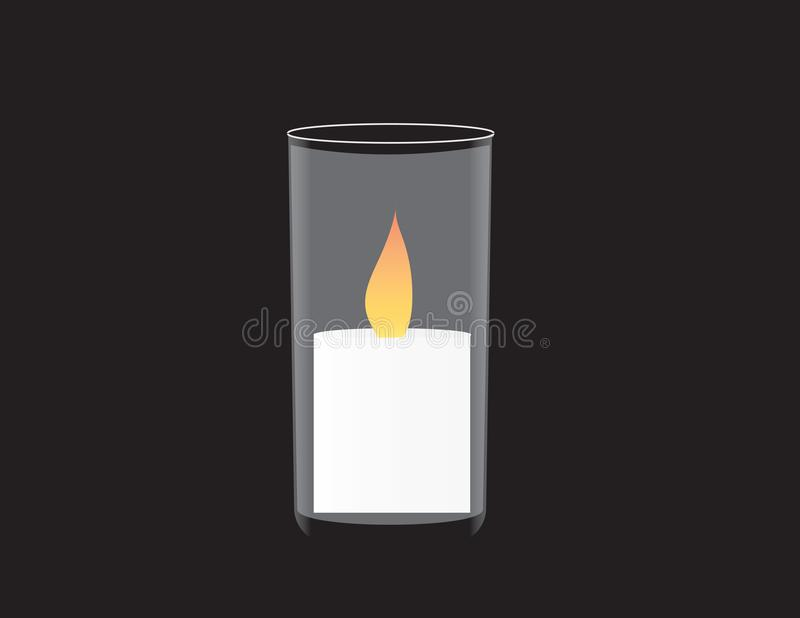 Bandeira do Memorial Day de Israel Vela memorável ilustração do vetor
