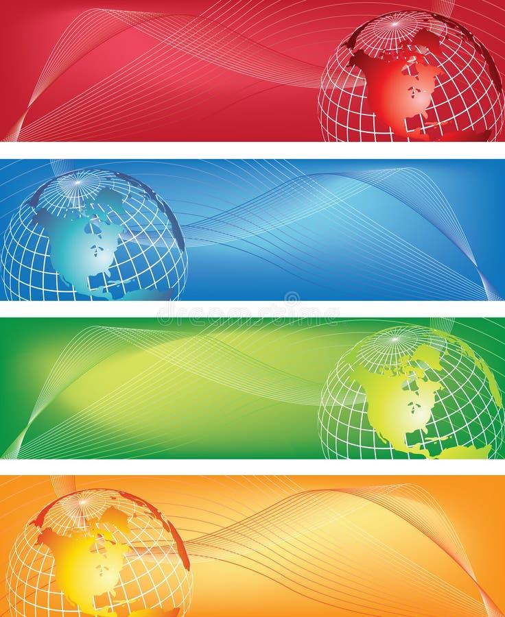 Bandeira do mundo ilustração do vetor