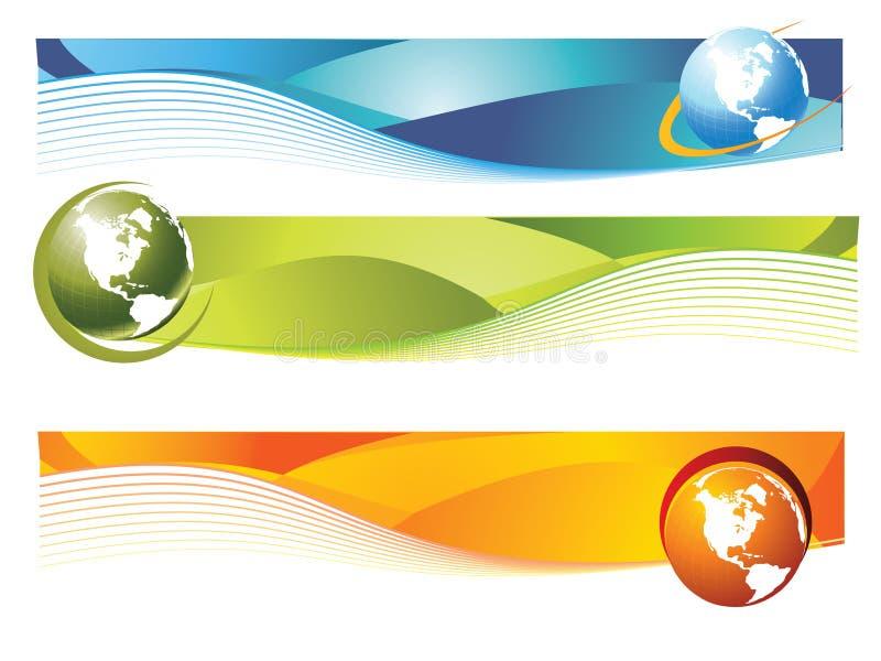 Bandeira do mundo ilustração royalty free