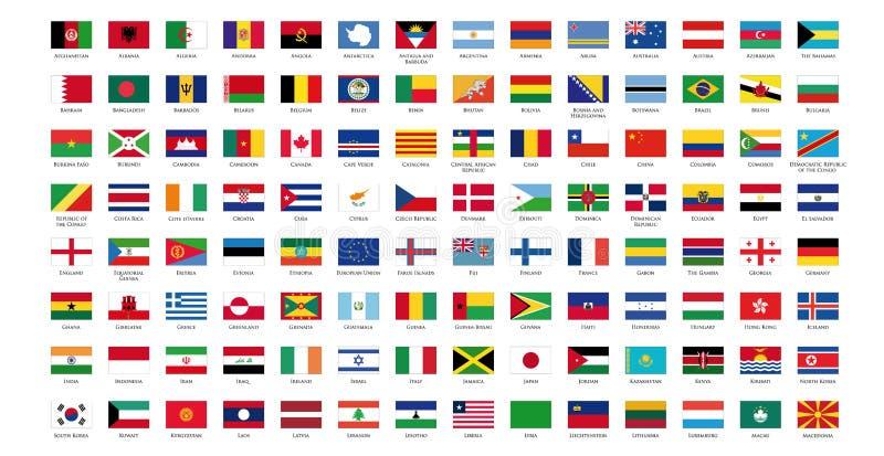 Bandeira do mundo mim ilustração do vetor