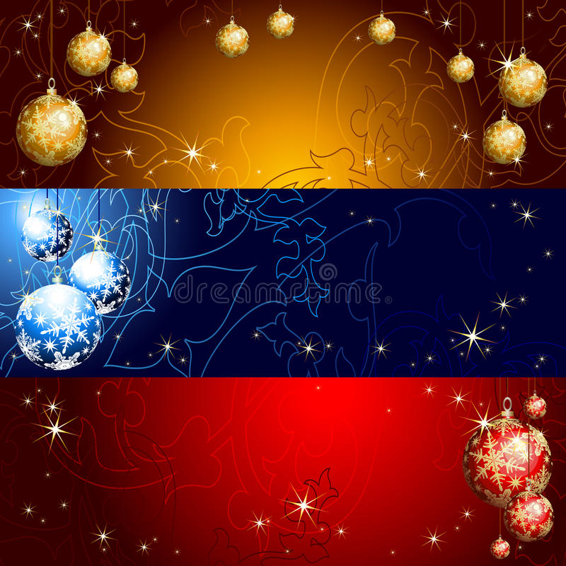 Bandeira do Natal ilustração do vetor
