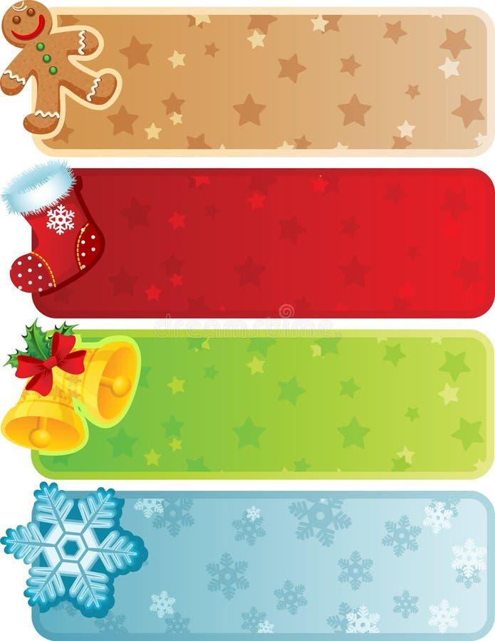 Bandeira do Natal ilustração stock