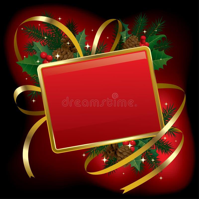 Bandeira do Natal e do ano novo ilustração stock