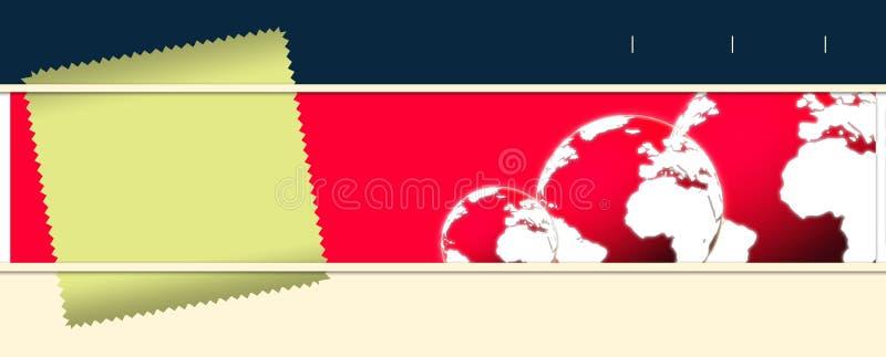 Bandeira do negócio e da tecnologia ilustração do vetor