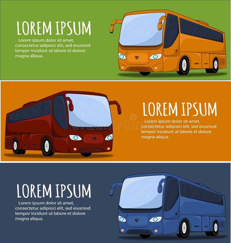 Bandeira do ônibus de turista ilustração stock