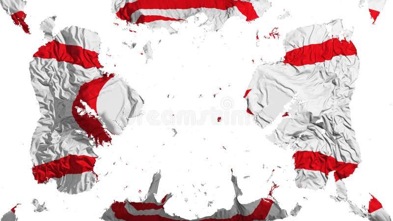 Bandeira do norte dispersada de Chipre ilustração royalty free