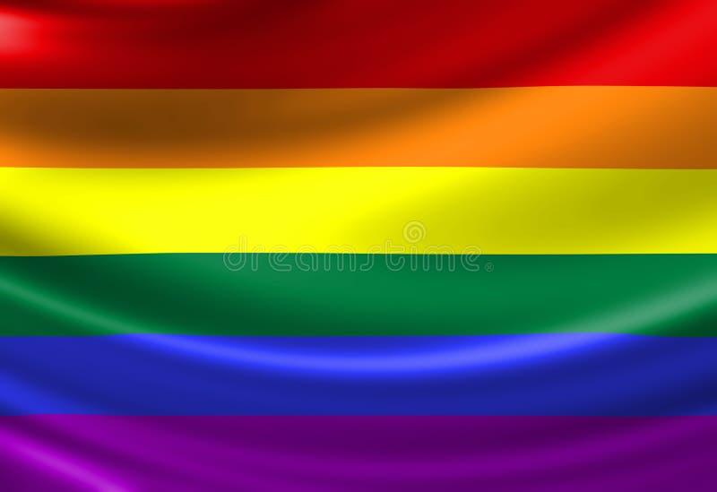 Bandeira do orgulho alegre ilustração royalty free