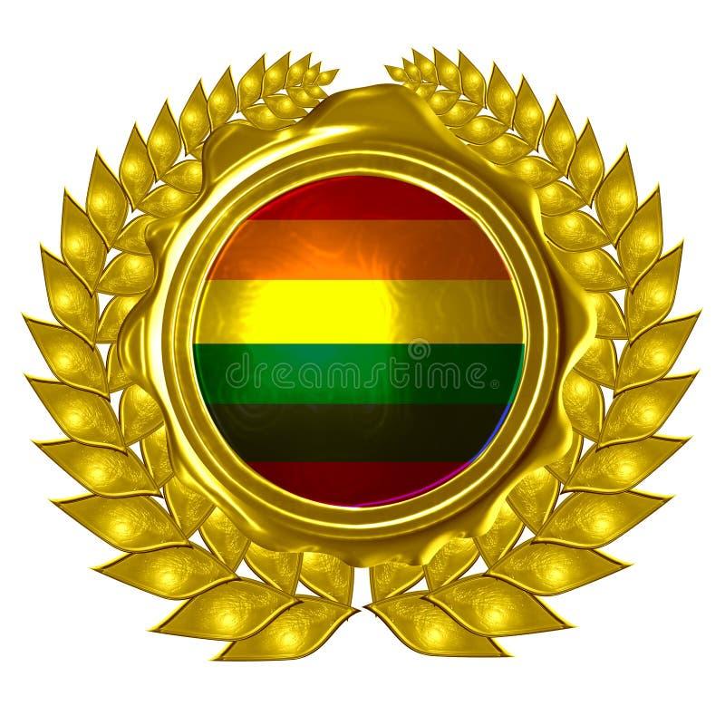 Bandeira do orgulho alegre ilustração do vetor
