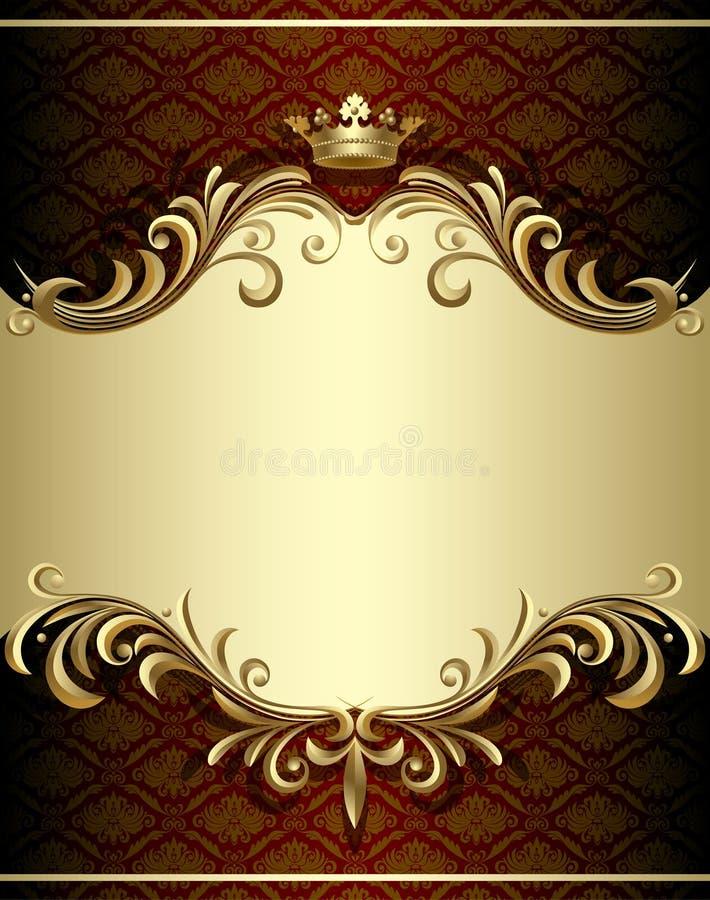 Bandeira do ouro ilustração royalty free