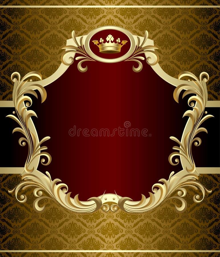 Bandeira do ouro ilustração stock