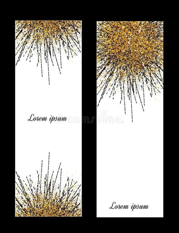 Bandeira do ouro O ouro sparkles no fundo branco Logotipo das bandeiras, c ilustração royalty free