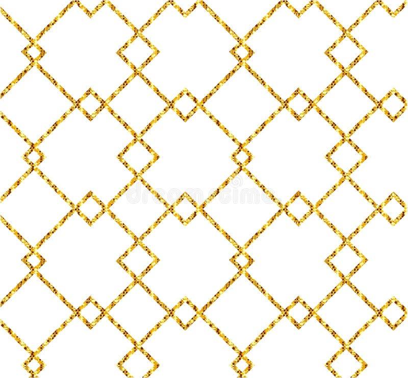 Bandeira do ouro Sparkles do ouro no fundo cor-de-rosa Logotipo das bandeiras, Ca ilustração do vetor