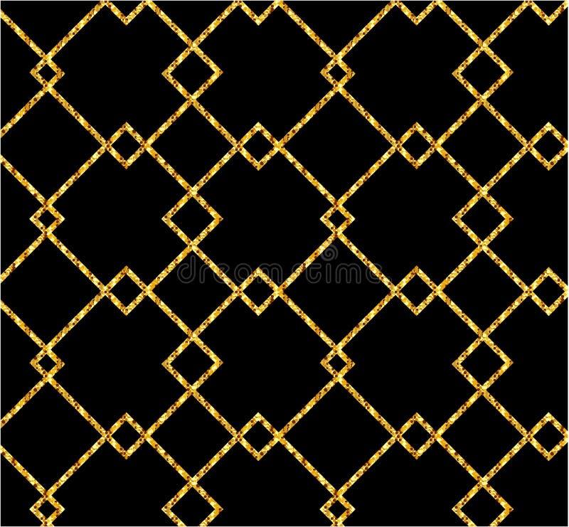 Bandeira do ouro Sparkles do ouro no fundo cor-de-rosa Logotipo das bandeiras, Ca ilustração stock