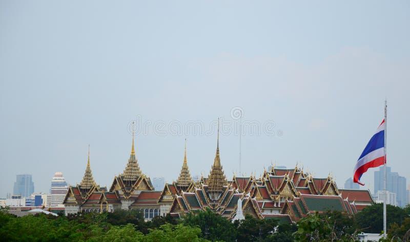 Bandeira do palácio de Tailândia fotos de stock royalty free