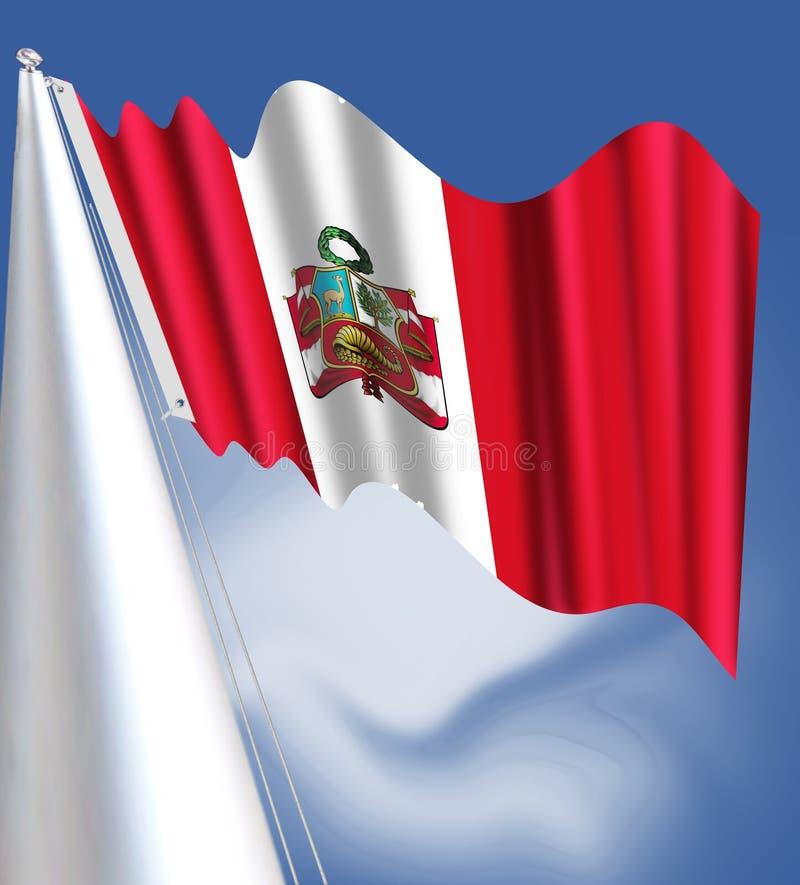 Bandeira do Peru: bandeira nacional vermelho-branco-vermelha verticalmente listrada ilustração royalty free