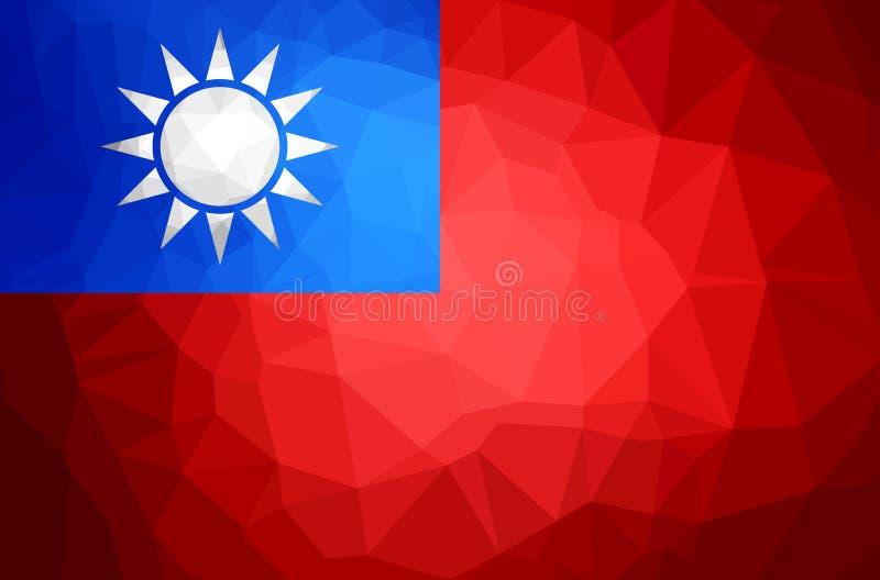 Bandeira do polígono de Taiwan ilustração do vetor