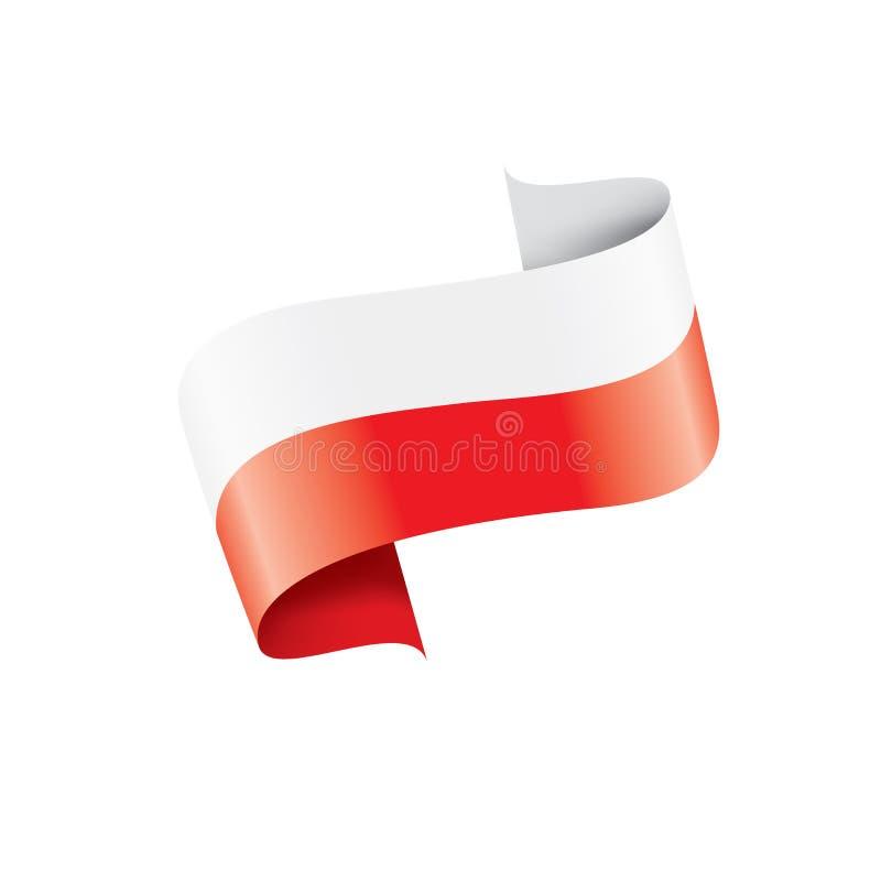 Bandeira do Polônia, ilustração do vetor em um fundo branco ilustração royalty free