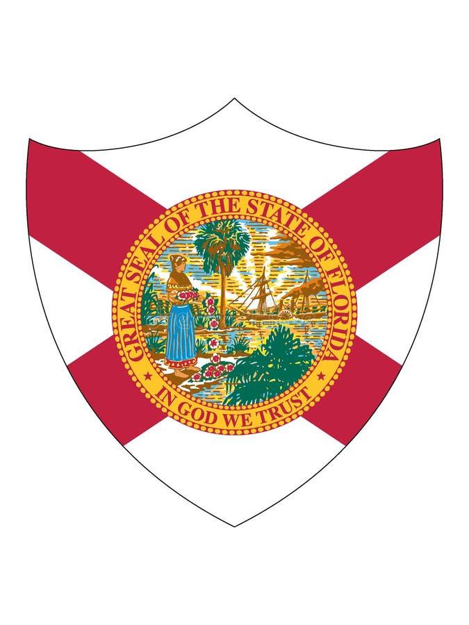 Bandeira do protetor do estado da Flórida dos EUA ilustração do vetor