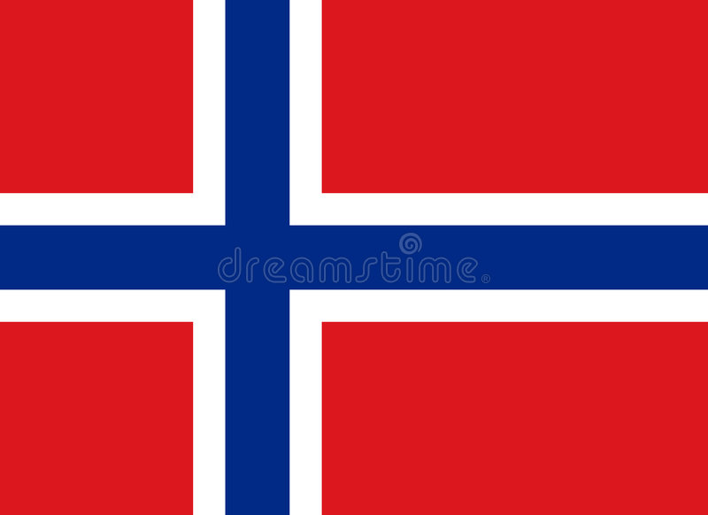 Bandeira do reino de Noruega fotos de stock