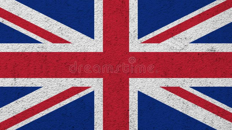Bandeira do Reino Unido pintado na parede foto de stock