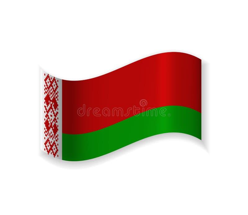 Bandeira do Republic of Belarus ilustração royalty free