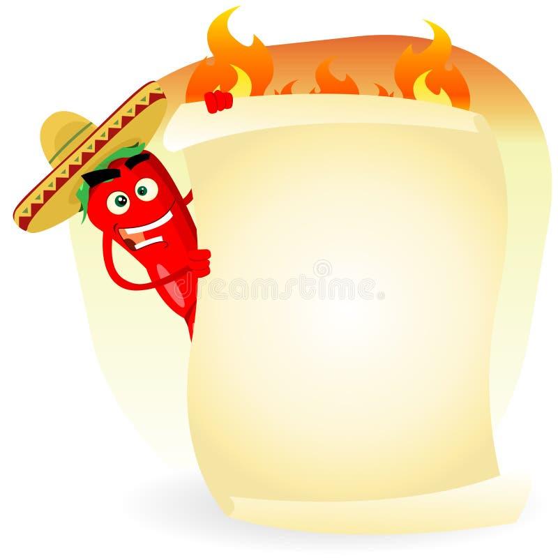 Bandeira do restaurante de Tex Mex ilustração stock