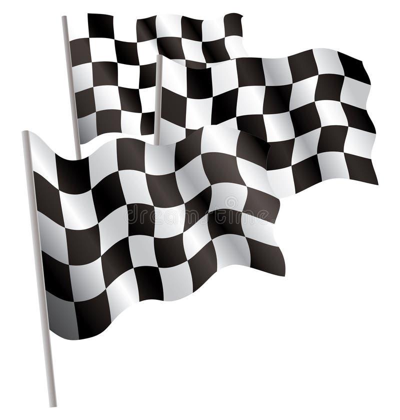 bandeira do revestimento 3d do Competir-esporte. ilustração royalty free