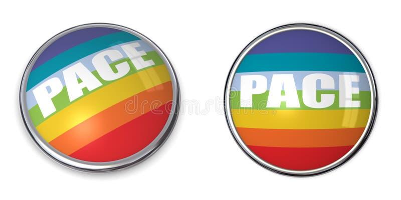 Bandeira do ritmo/paz da tecla da bandeira ilustração stock