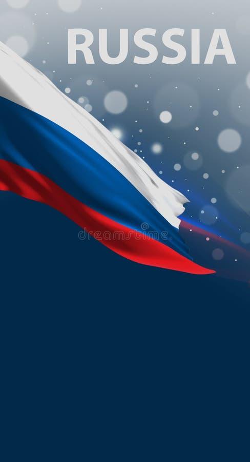 Bandeira do russo, cores abstratas de Rússia, rendição 3D ilustração do vetor