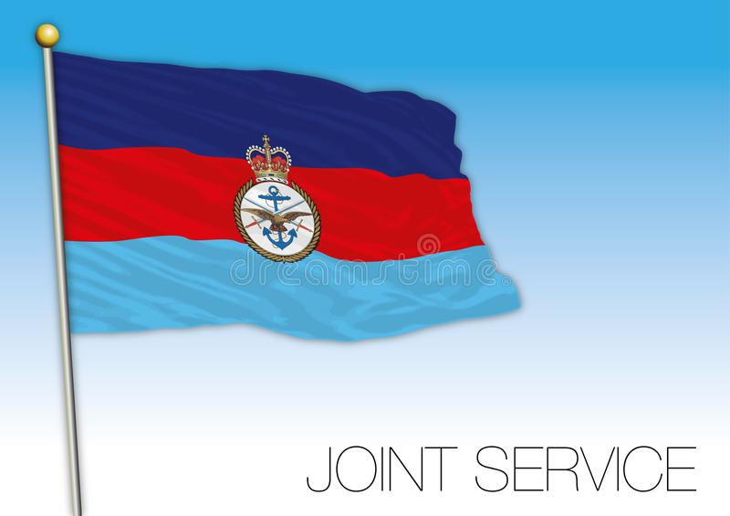 Bandeira do serviço comum, Reino Unido, Europa ilustração stock