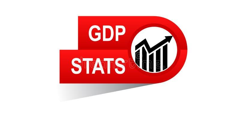Bandeira do stats do Gdp ilustração stock