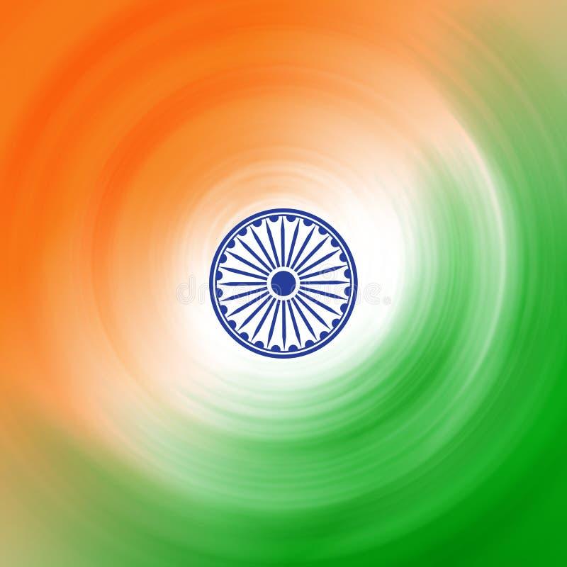 Bandeira do sumário de India- ilustração royalty free