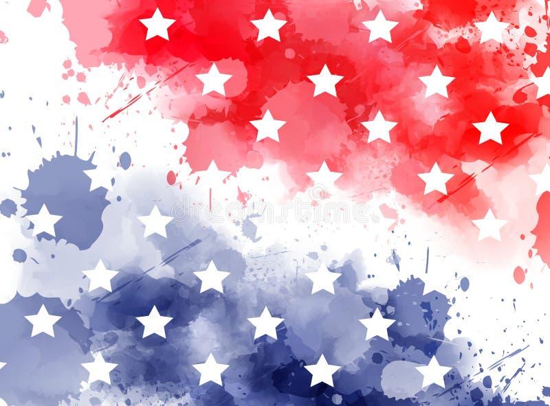 Bandeira do sumário dos EUA ilustração do vetor