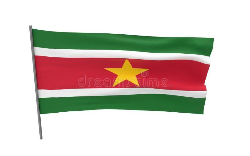Bandeira do Suriname imagem de stock royalty free