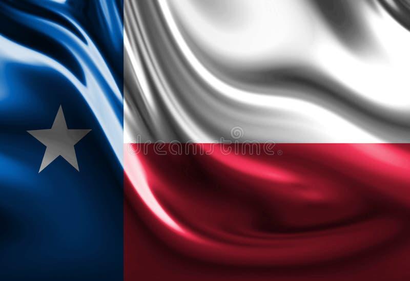 Bandeira do Texan ilustração do vetor