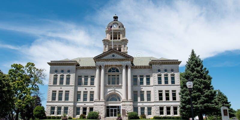 Bandeira do tribunal de Muscatine County fotografia de stock