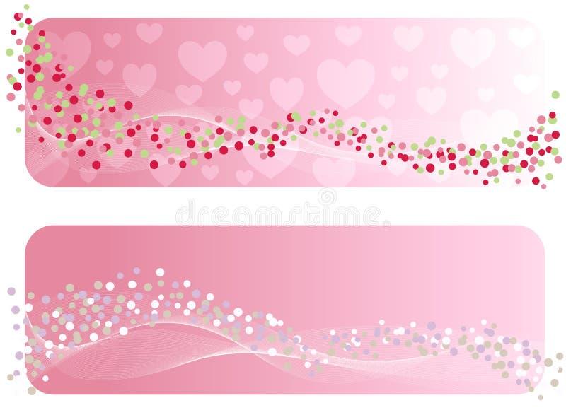 A bandeira do Valentim. ilustração royalty free